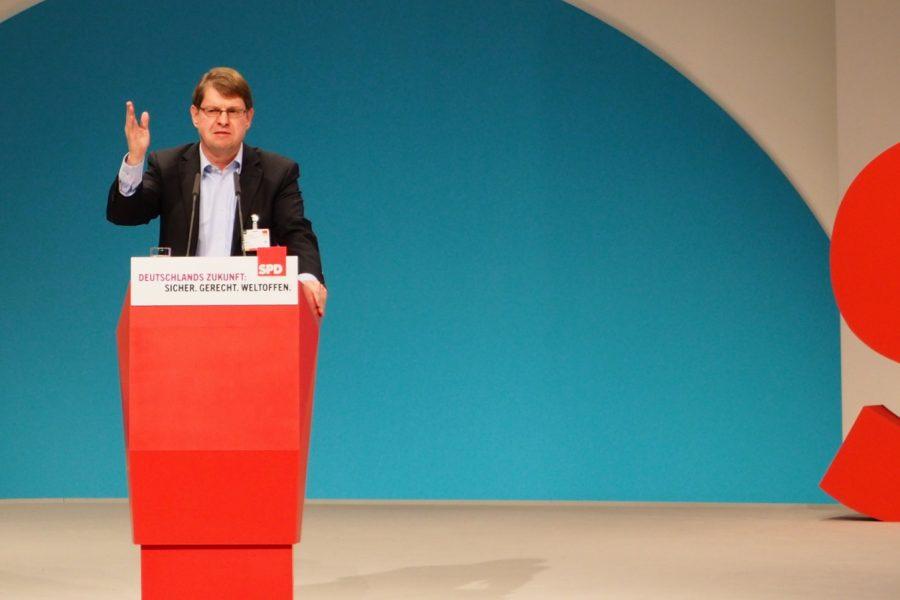 Ralf Stegner auf dem Bundesparteitag 2015