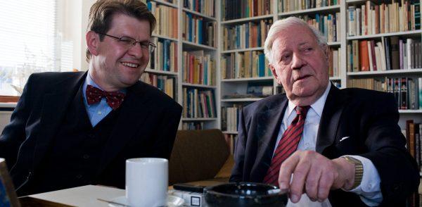 Ralf Stegner und Helmut Schmidt_Foto: Olaf Bathke