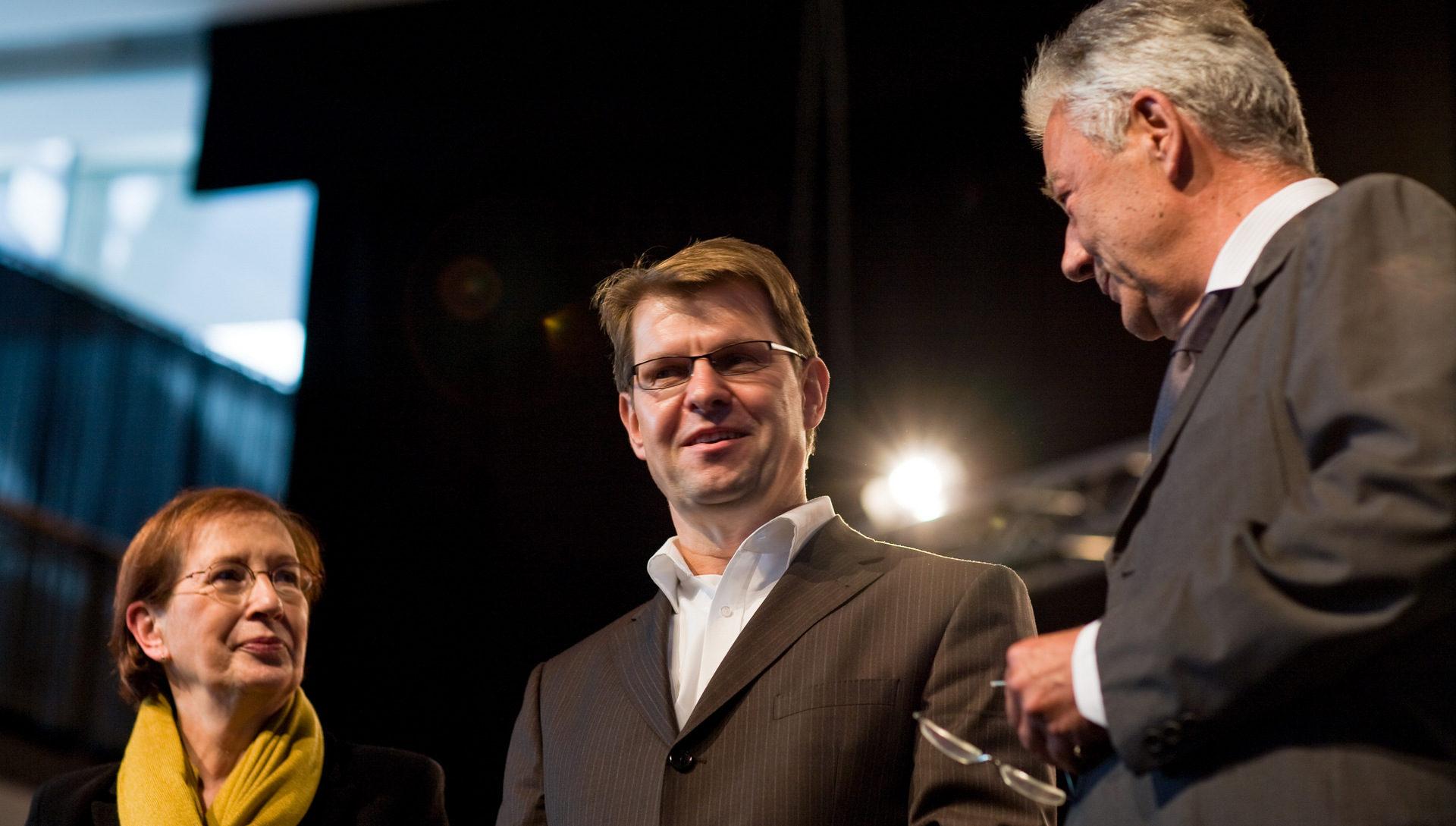 Heide Simonis, Ralf Stegner, Björn Engholm_Foto: Olaf Bathke