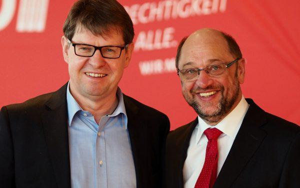 Ralf Stegner und Martin Schulz_Foto: Steffen Voß