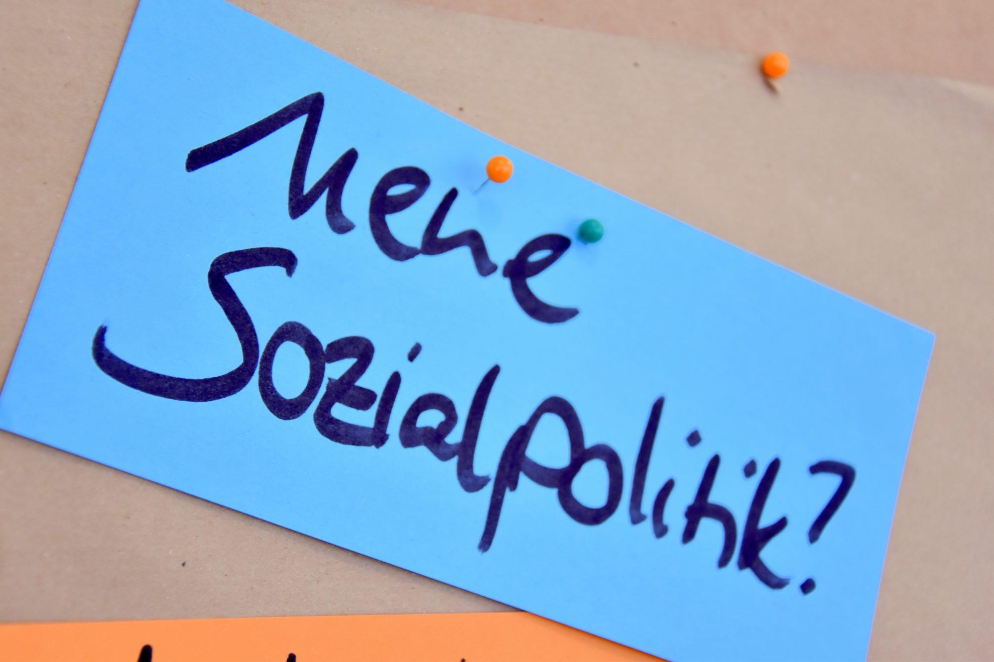 Metaplan-Karte: Neue Sozialpolitik
